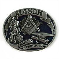 Western Cowboy Zinc Alloy Freemasonry Belt Buckle Men's Accessories Gift