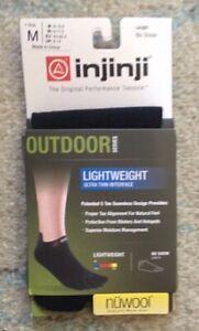 Injinji Toe Socks Size Medium 2012 Outdoor Series NuWool Lightweight No Show NEW