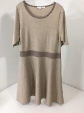 BODEN WOMEN'S MILANO DRESS TAN SPARKLE TAN/TAUPE UK:20/US:16 NEW $170