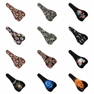 Floral Skull Bicycle Saddle Cushion for Men Women Decor Protect Covers Soft Pad
