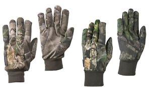 Mossy Oak Breakup Country & Realtree EDGE Men's Jersey Non-Slip Gloves: M-XL