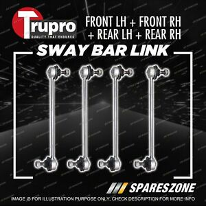 4 Pcs Trupro Front+Rear Sway Bar Links for Hyundai IX35 LM Wagon 2/2010-9/2014