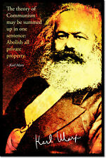 Karl Marx ART PHOTO PRINT POSTER CADEAU communisme socialisme devis