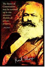 KARL MARX ART PHOTO PRINT POSTER GIFT COMMUNISM QUOTE SOCIALISM