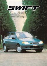 Suzuki Swift 1998-99 UK Market Sales Brochure 1.0 1.3 GL GLX GLS