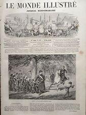 """LE MONDE ILLUSTRE 1860 N 154 """" LE PERE NOURRICIER """" :TABLEAU D' EMMANUEL MASSE"""