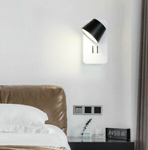 Nordic Modern LED Wall Light With Switch Bedroom Wall Sconces Reading Light 1pc