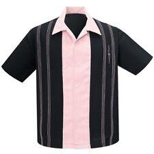 Steady Clothing Vintage Rockabilly Bowling Shirt Hemd - The Harper Schwarz