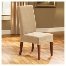 Stretch Pinpoint Short Dining Room Chair Cream - Sure Fit
