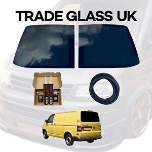 VW T5 Transporter Barn Door Tinted Rear Door Windows with FITTING KIT AND U TRIM