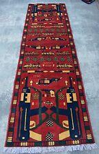 Stunning hand knotted Afghan War rug runner 100% wool/ tribal rug /oriental rug