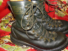 Rare Vintage Herman Survivor Boots Green Leather Mountaineering Ranger Work sz 9