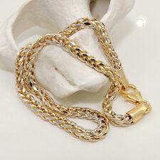 585 Collier 45cm, Zopfkette bicolor 14Kt GOLD Halksette Kette Goldkette
