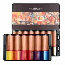 72 Color Wooden Pencil Marco Renoir Oil Base Artist Drawing Set Sketching Tin