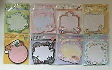 Sanrio Sticky Note Pad Kawaii Stationary Japan Cute 30 Sheets NEW DESIGNS