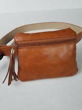 INC International Concepts L Belt Cognac Mini Waist Belt Bag Fanny Pack $44
