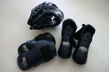 MACHO Sparring Protective Set // Head Hands Feet // Blue SMALL