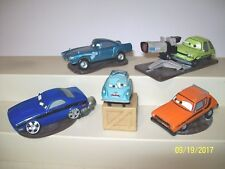 Disney Pixar Cars Lot of 5 Car on Stand Cake Topper Finn Rob Torque Professor