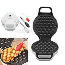 Electric 640W Nonstick QQ Egg Maker Oven Waffle Eggettes Baker Machine Tool Set