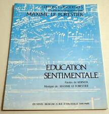 Partition sheet music MAXIME LE FORESTIER : Education Sentimentale *70's
