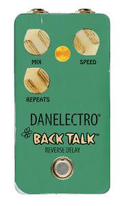 Danelectro Guitar Effect Pedal Back Talk Reverse Delay Pedal True Bypass