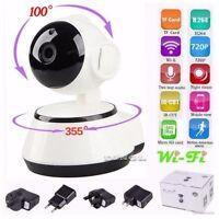 WIFI Webcam Wireless Pan Tilt HD 720P CCTV Security IP Camera Night Vision P2P