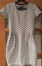 River Island Black And White Geometric Pattern Dress Size 10