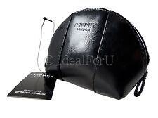 OSPREY LONDON New Women's Black Leather Coin Purse Authentic Leather Pouch
