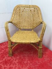 wicker rattan kids small chair Has some issues.