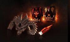 Diablo 3 Collectors Edition 4GB USB Glowing Soulstone Skull & D2 LoD Keys (Rare)