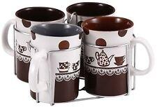 Wellberg WB-12816 Set of 4 Mugs Ceramic Mugs Set in Gift Box