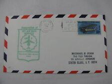 FFC First Flight Cover USA Route AM 8 Plane Port Arthur Texas Newark 1968