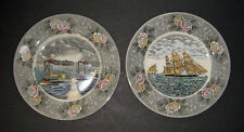 "2 Adams CURRIER & IVES "" PLATES midnight race... & clipper ship...."