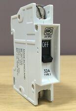 MK Sentry 32A Type 2 Single Pole Circuit Breaker SP 32 Amp MCB ~BS3871~  LN 5932