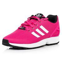 Adidas Zx Flux Fille Junior Chaussures Baskets Femmes S74952 Rose /Blanc Neuf
