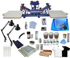 TECHTONGDA Screen Printing Kit 4 Color 2 Station T-Shirt Press& Materials Kit