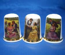 Birchcroft China Thimbles -- Set of Three -- Regency Romance