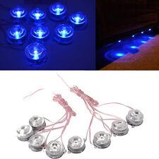 8PCS LED Car Light Kit Chassis Lights Truck Underglow Light Round Lamp Set 12V