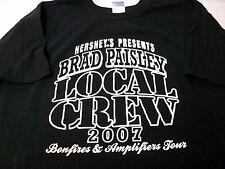 Brad Paisley 2007 Bonfires Amplifiers Tour Hershey Local Crew black T-shirt Xl