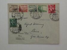 (g661) DR 660-661+W 131 + 123 auf Brief mit SST Sangerhausen 30.1.1938 Rosen