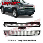 Grille For 2007-2014 Chevrolet Tahoe Set Of 2 Upper And Lower Plastic