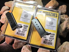 2 Pack AMT BACKUP .380 Mags 6 Round Magazine Mag Magazines FLUSH FIT Stainless