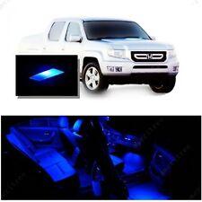 For Honda Ridgeline 2006-2014 Blue LED Interior Kit + Blue License Light LED