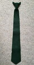 Vtg Antymar Tooled Suede Leather Clip On Necktie Loden Green Made In Spain