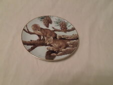 """THE FOREST YEAR """"PINE MARTENS ON A FEBRUARY PERCH"""" PORCELAIN PLATE"""