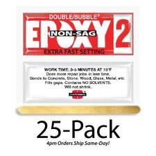 Hardman Double Bubble Red Non-Sag Epoxy2 Gel 3-5 Min-#04008 25-Pack
