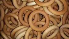 100 Maple Wooden 2.5 Inch Rings - Beeswax / Olive Oil