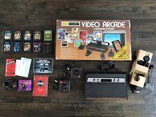 1982 Atari Sears Tele-Games Video Arcade Cartridge System w/10 Games