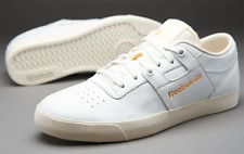 uk size 12 - reebok classic workout low clean fvs leather trainers - v55323