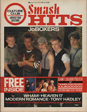 JoBoxers on Smash Hits Magazine Cover 1983 Wham Culture Club The Alarm Heaven 17